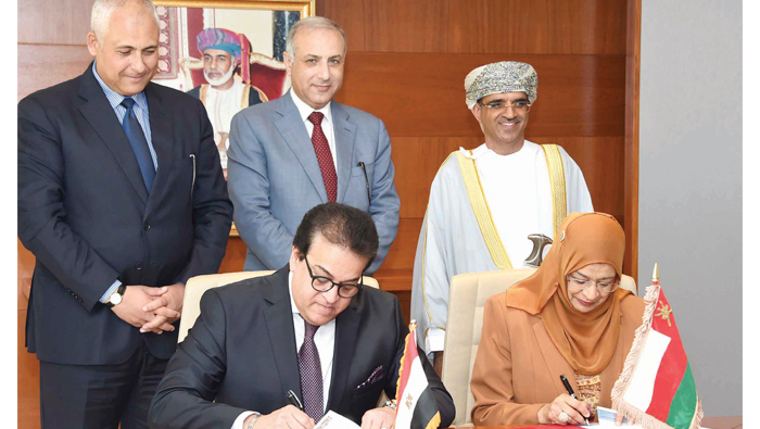 Oman, Egypt sign higher education cooperation pact