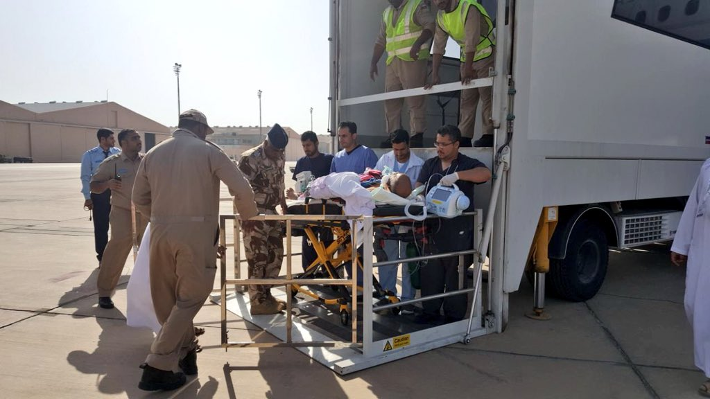 In pictures: Nine Omanis airlifted from Saudi airport