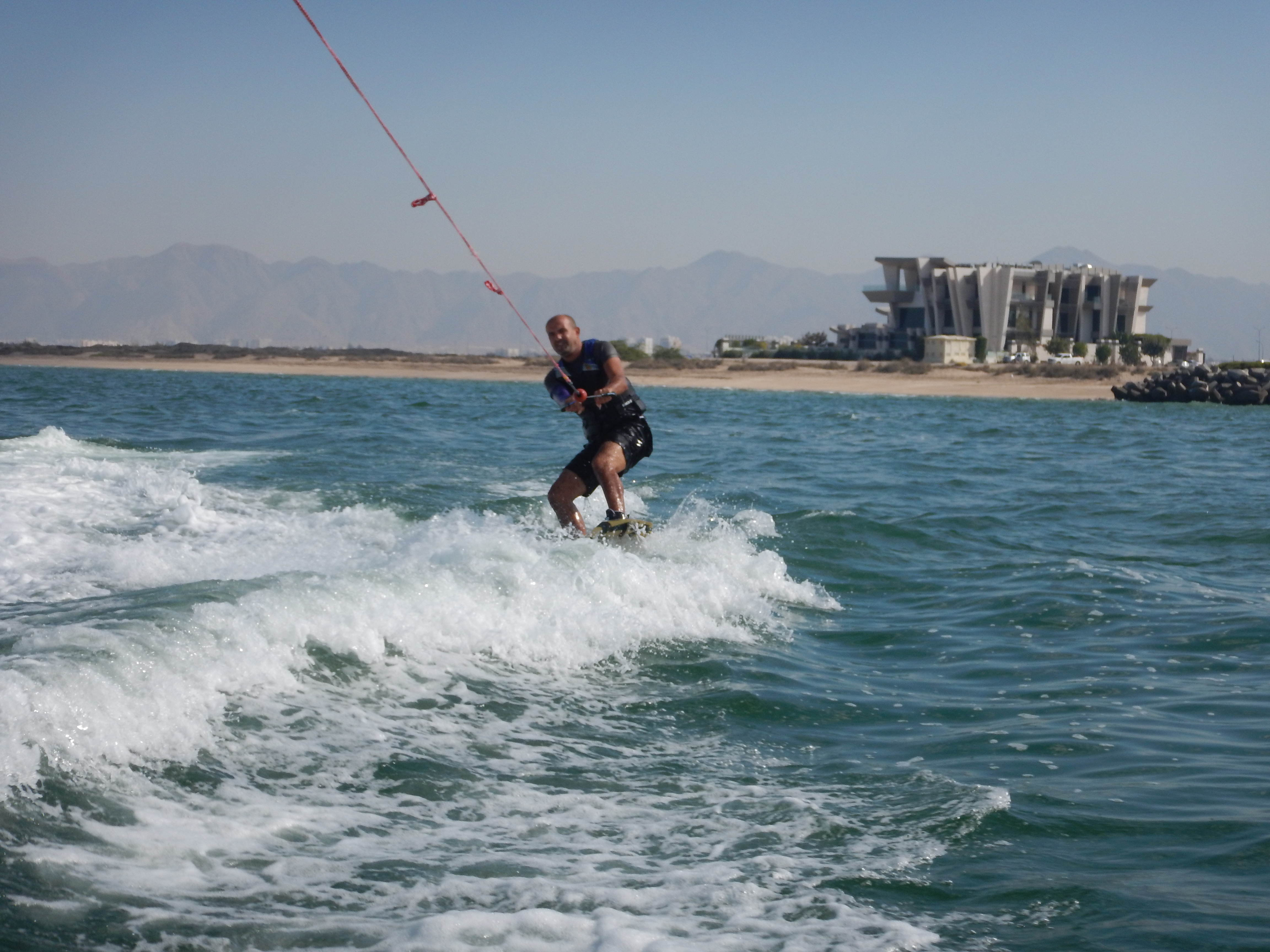 Try wakeboarding in Oman