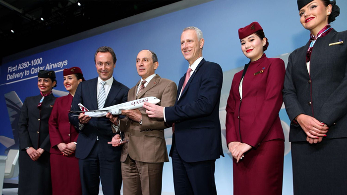 Qatar Airways takes delivery of world's first Airbus A350-1000