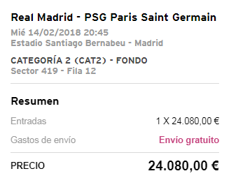 سعر تذكرة ريال مدريد مع باريس تصل لأرقام خيالية