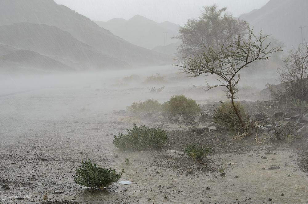 طقس مشمس وأمطار متفرقة على جبال الحجر