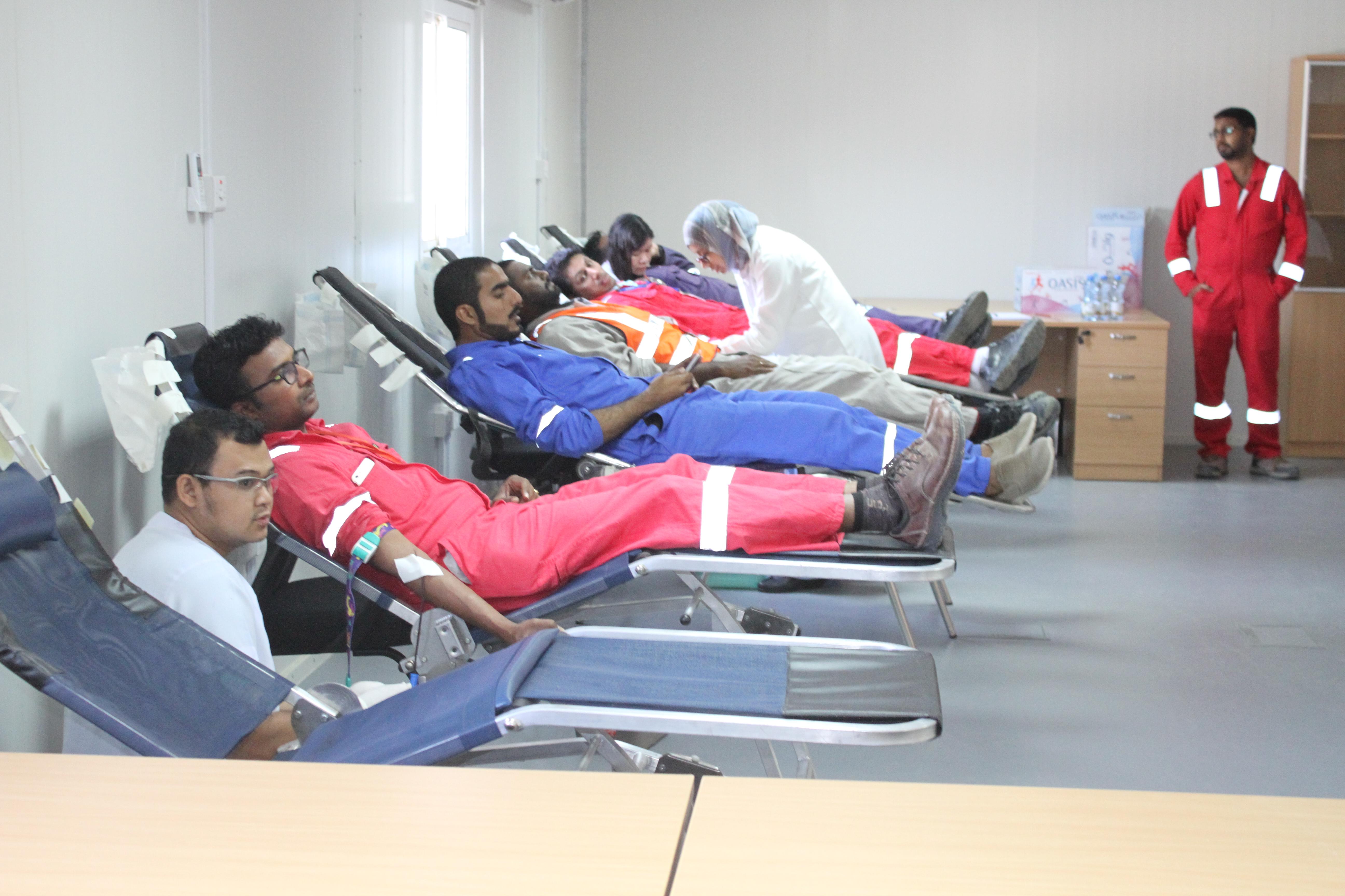 حملة للتبرع بالدم في صحار