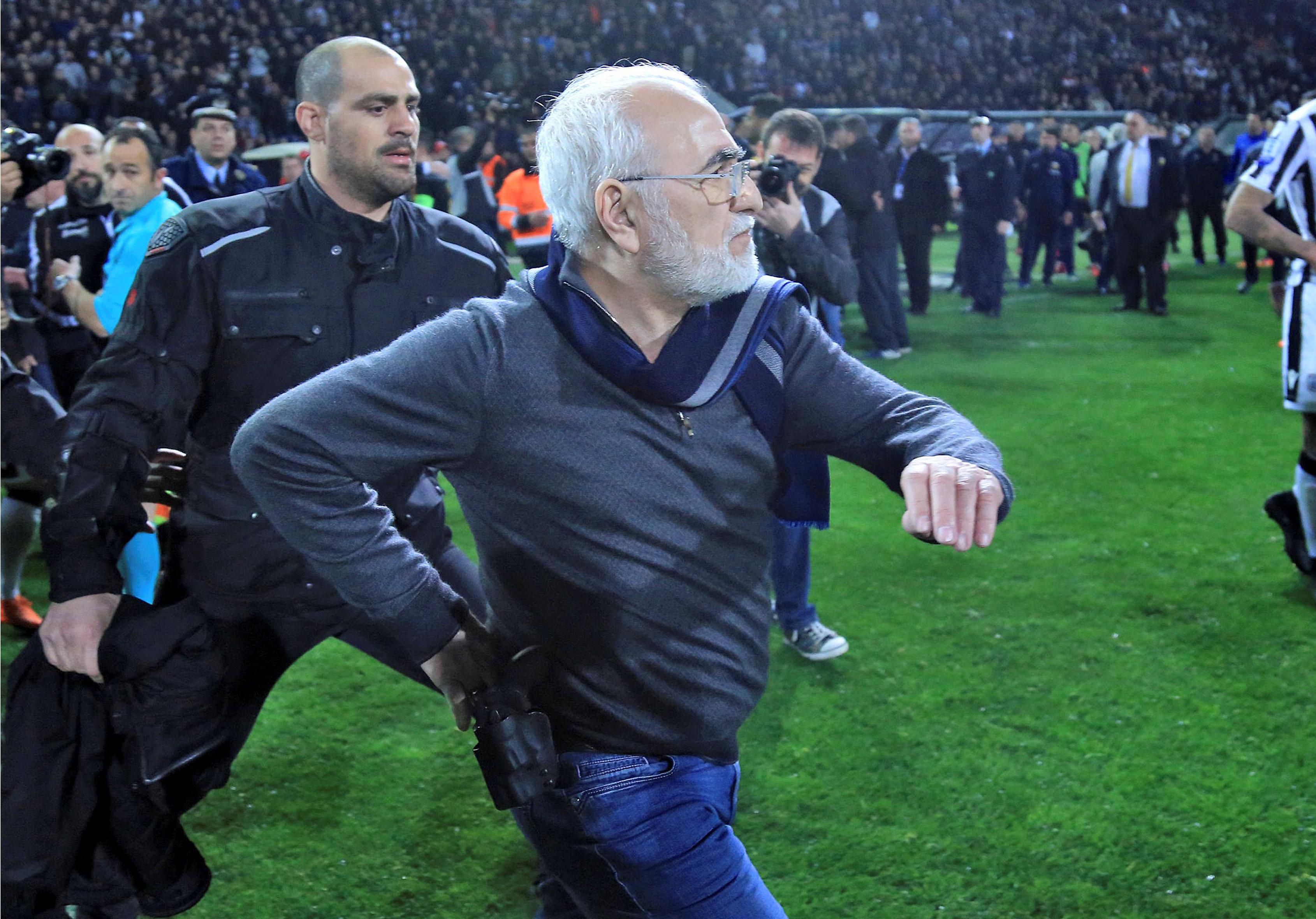 Gun-carrying PAOK boss faces sanctions as FIFA warns Greece