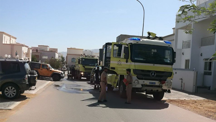 House catches fire in Oman