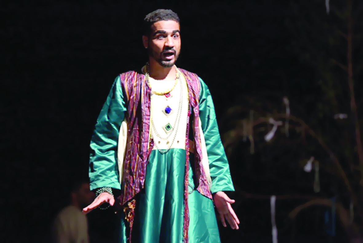 الفنان الكفيف عمران الرحبي:المسرح متنفسي العميق