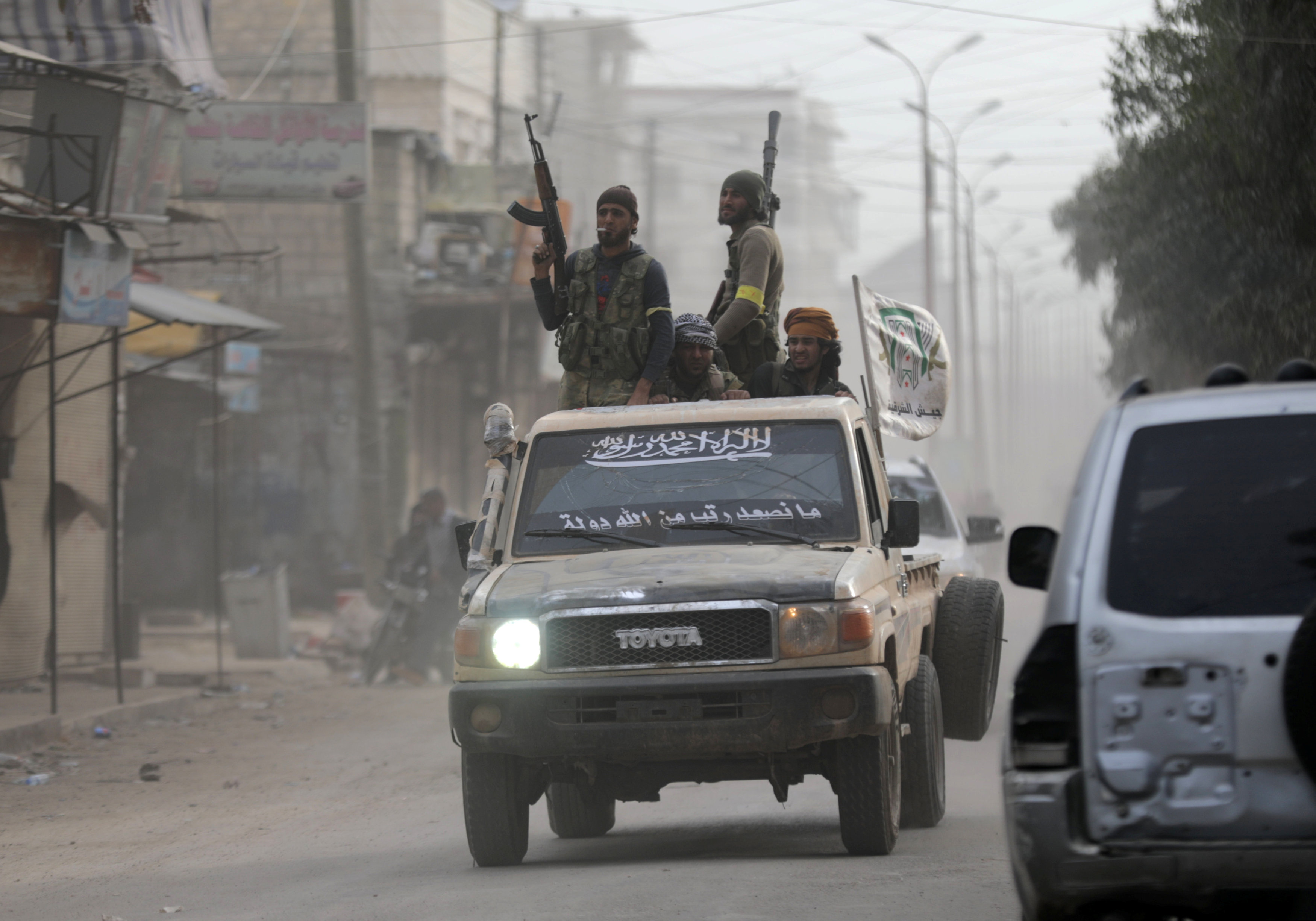 Blast kills 7 civilians, 4 Syrian rebels in Afrin