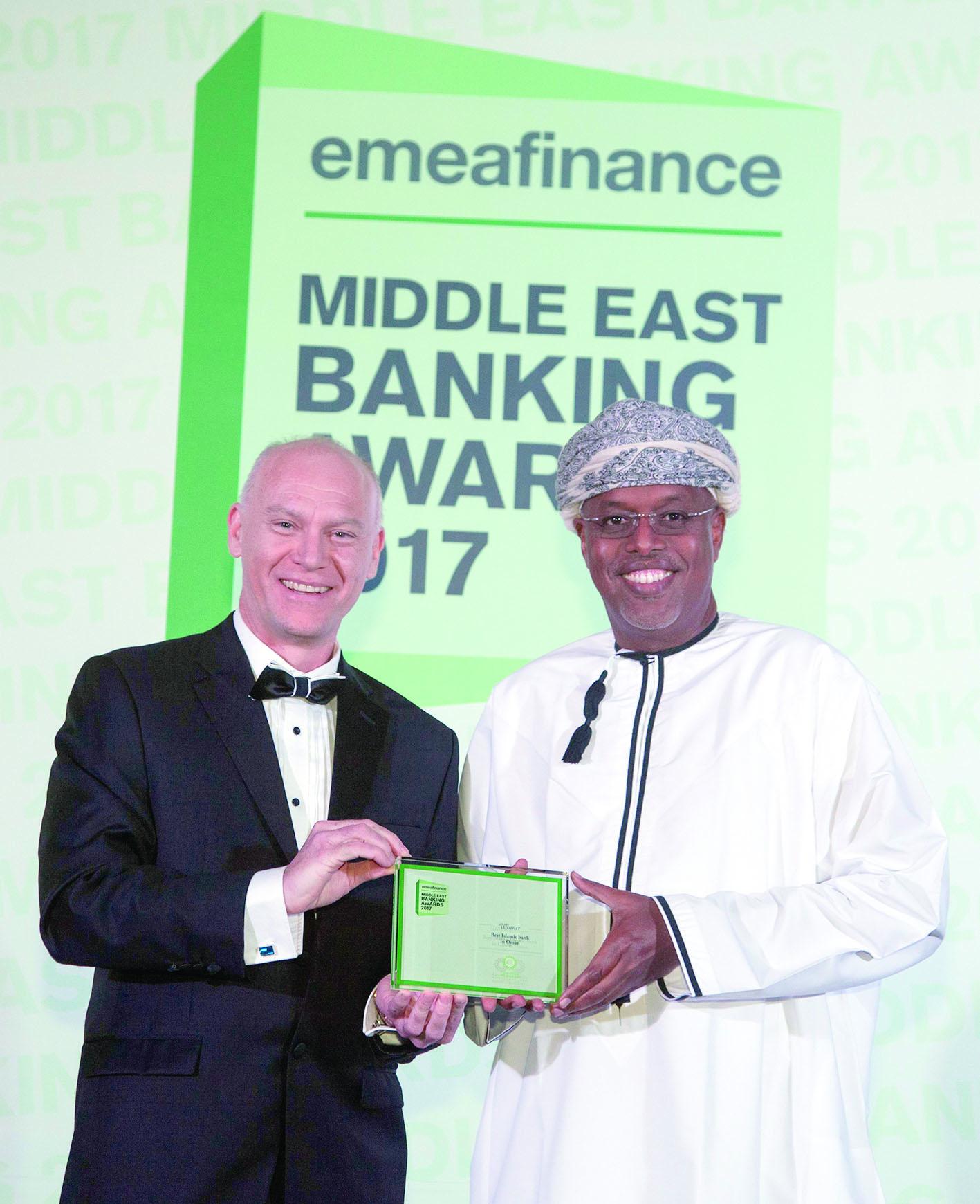 للعام الثالث على التوالي«ميسرة» تفوز بجائزة أفضل بنـك إسلامـي فـي السـلطنـة