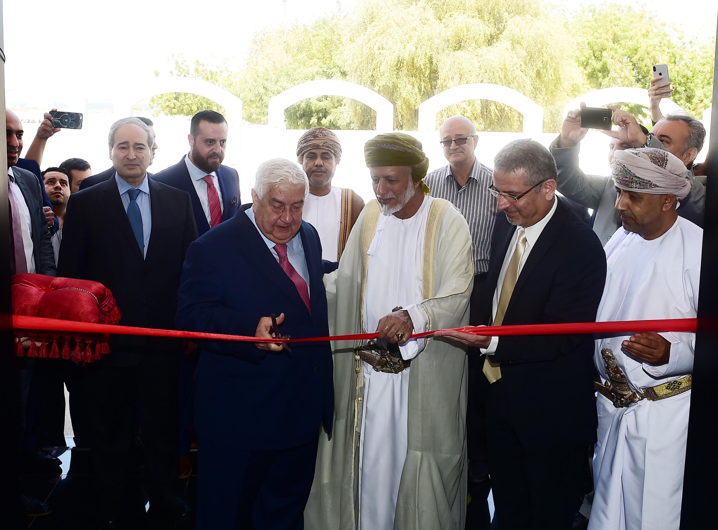 بالفيديو.. افتتاح المبنى الجديد للسفارة السورية