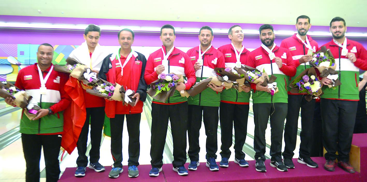 3 ميداليات ملونة حصيلة منتخبنا في عربية البولينج