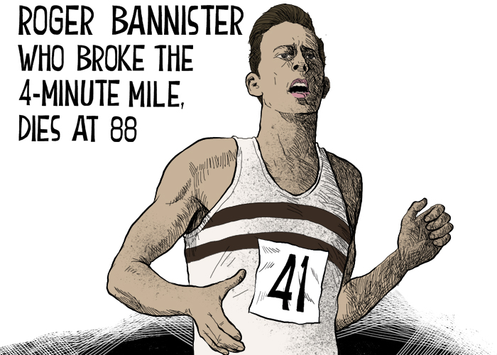 Roger Bannister, first four-minute miler, dies
