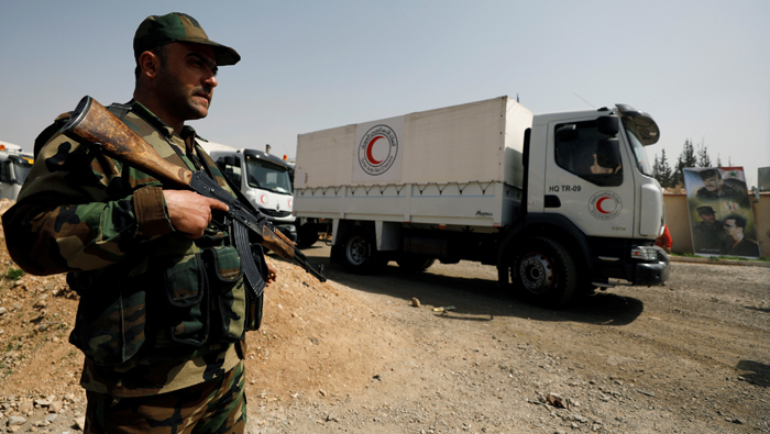 Aid convoys to Syria's Ghouta stripped of medical supplies