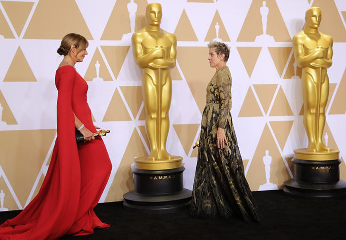 Oscars red carpet glitters in anything-goes fashion attitude