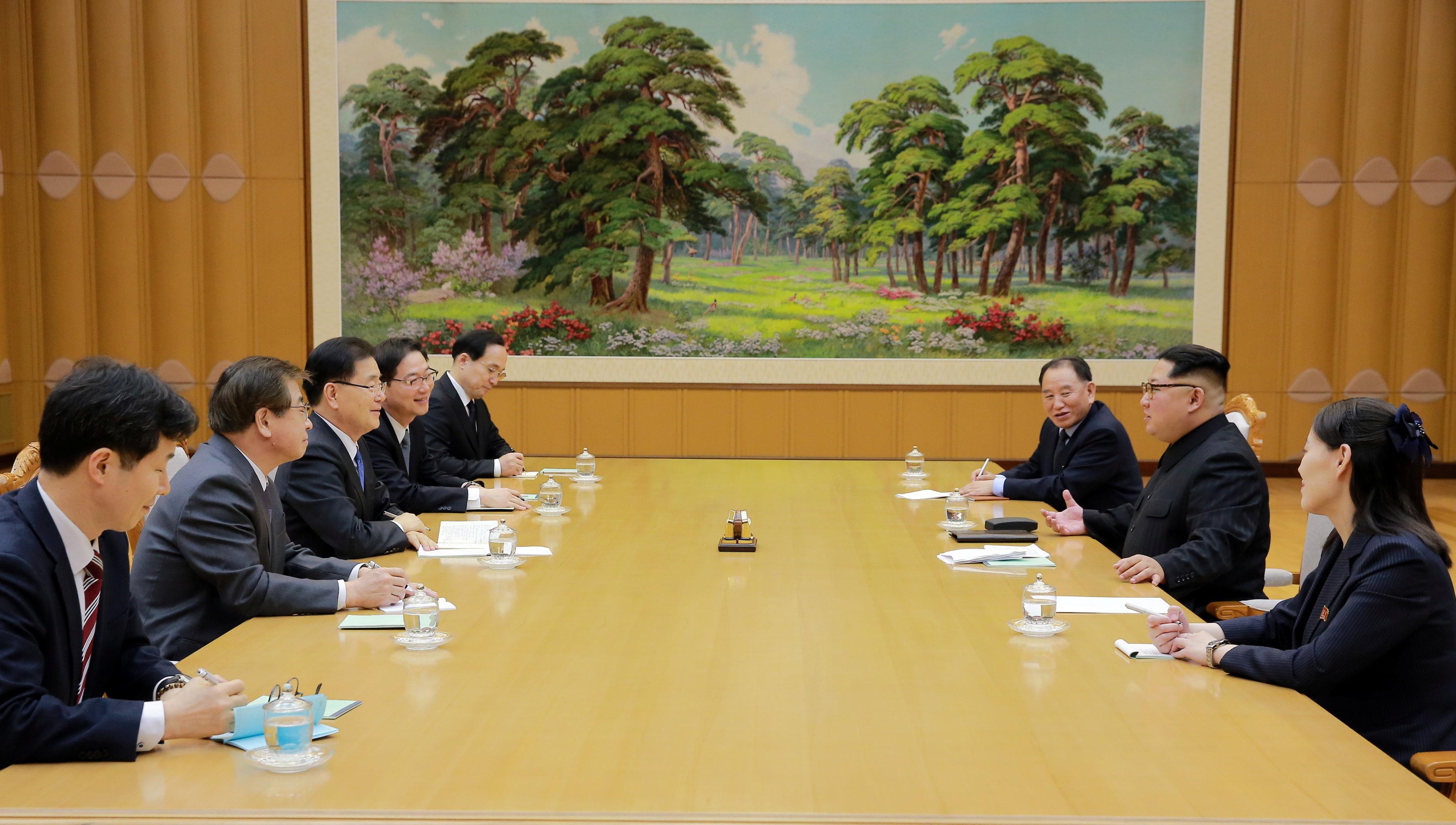 North Korean leader stresses improvement of inter-Korean ties
