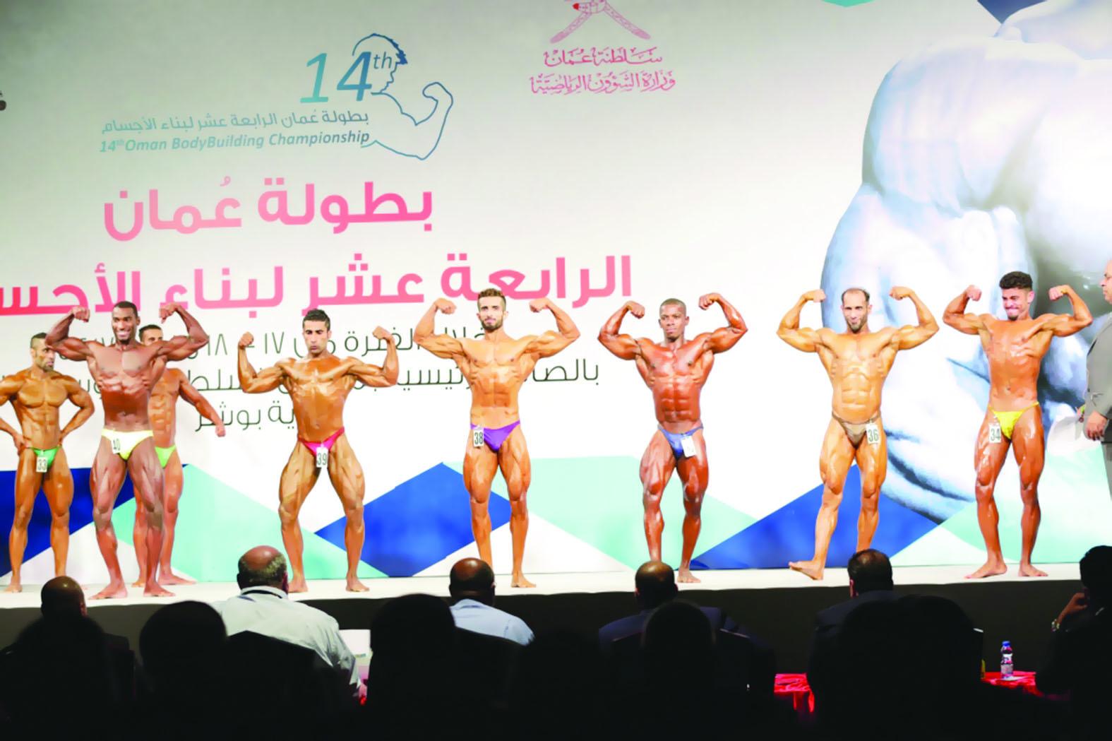تواصل الاستعدادات لإقامة بطولة عمان لبناء الأجسام