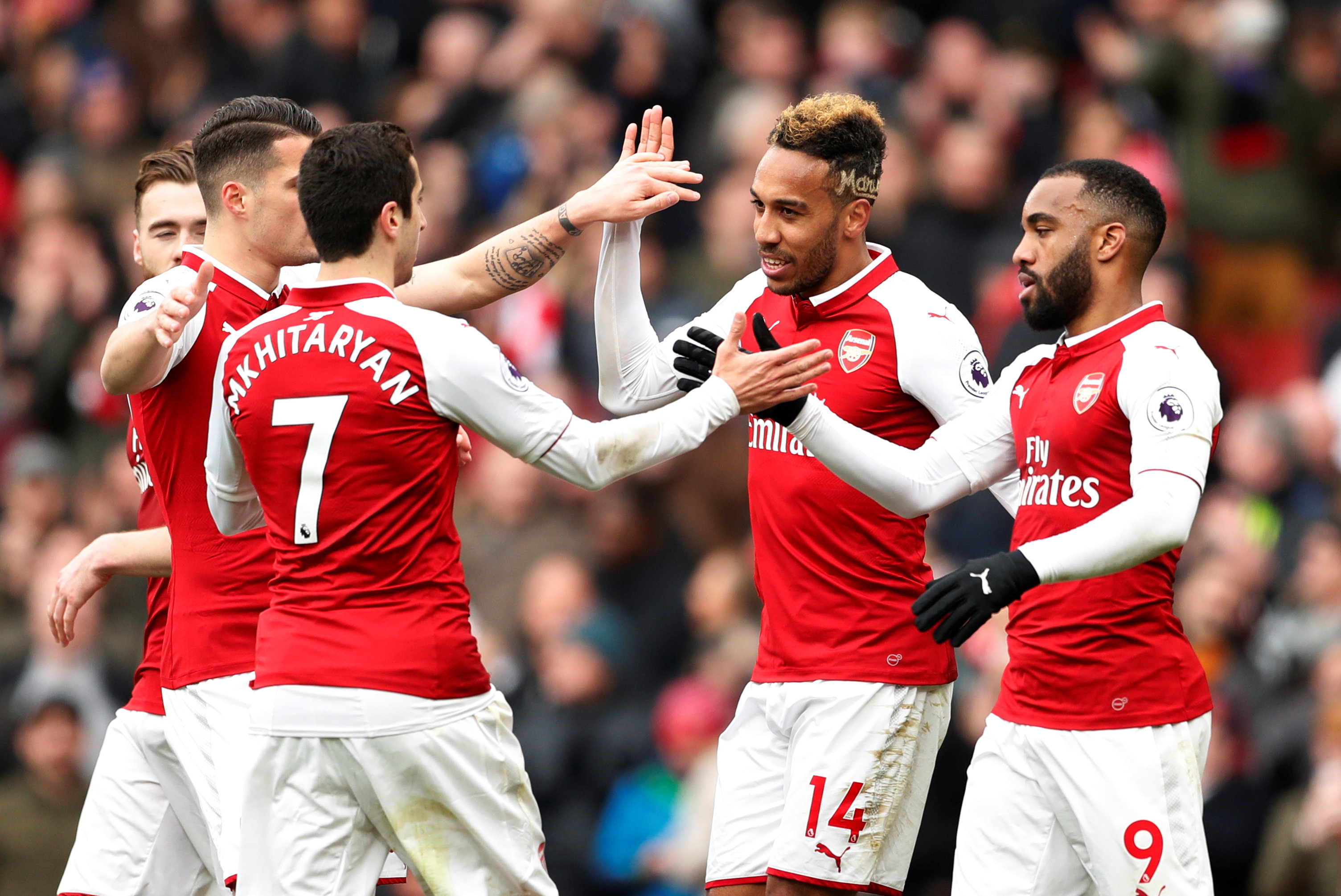 Football: Arsenal's late goals leave Stoke stuck in drop zone