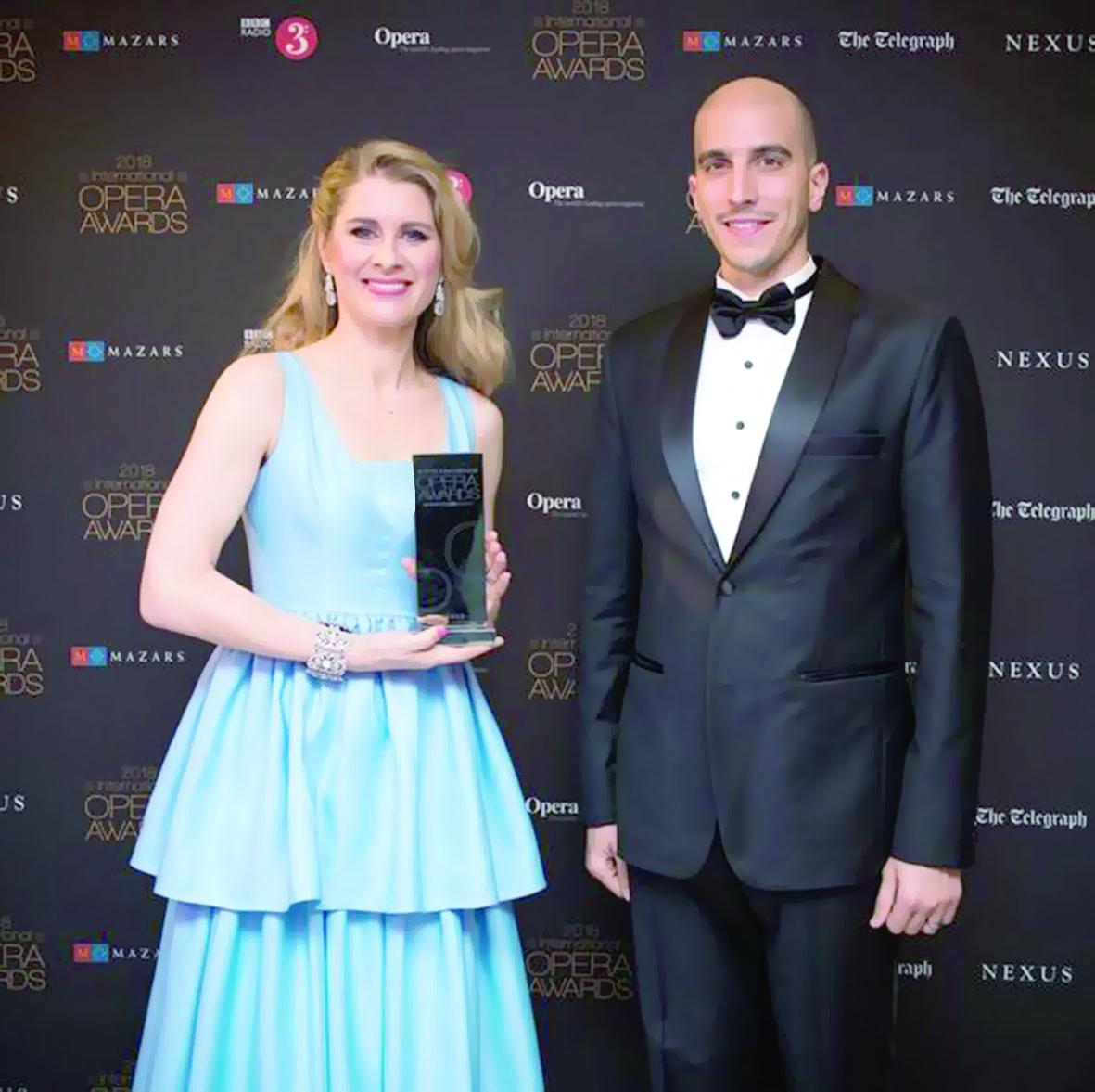 الأوبرا السلطانيةتشارك في حفل توزيع جوائز الأوبرا الدولية لعام 2018