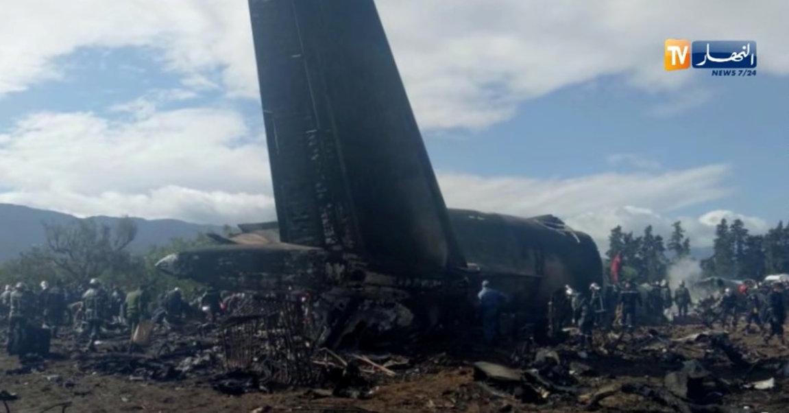 In pictures: Algeria military plane crash