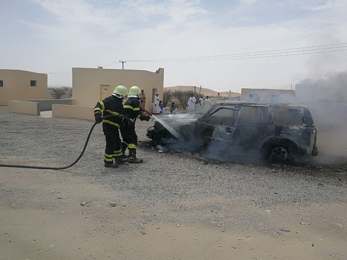 Car catches fire in Oman