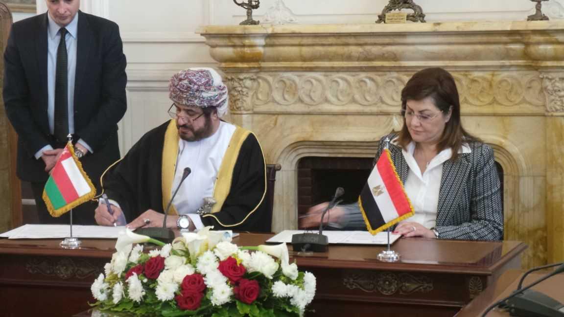 جلسة مباحثات بين السلطنة ومصر