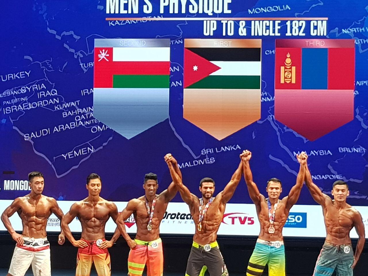 ابطال السلطنة يخطفون 5 ميداليات في بطولة آسيا لبناء الأجسام