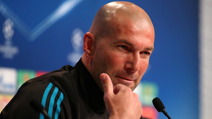 Zidane asks Madrid fans to create best atmosphere ever against Bayern