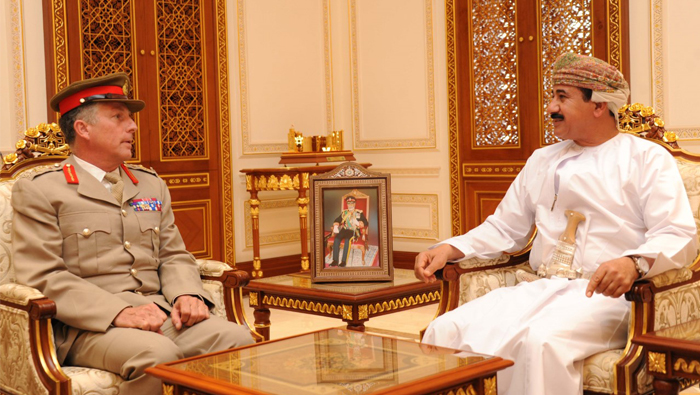 Royal Office Minister receives UK Chief of Defence Staff