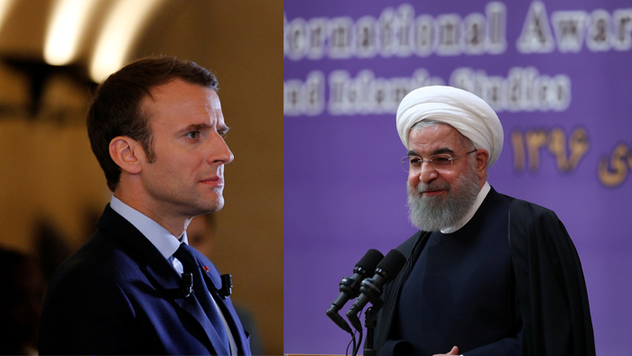 Macron, Rouhani agree to work on saving Iran nuclear deal - Elysee