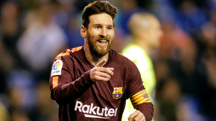 Football: Barcelona clinch title in style as Messi treble downs Deportivo