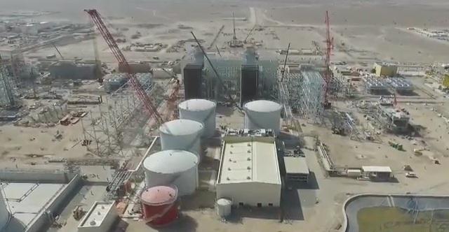 بالفيديو.. تواصل الأعمال الإنشائية بمحطة عبري لتوليد الطاقة