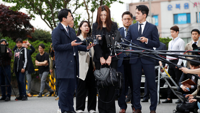 Korean Air chairman's daughter appears for police questioning