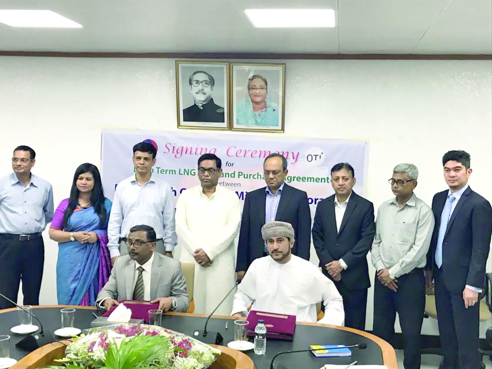 لمدة 10 سنوات توقيع اتفاقية بيع وشراء الغاز مع بنجلاديش