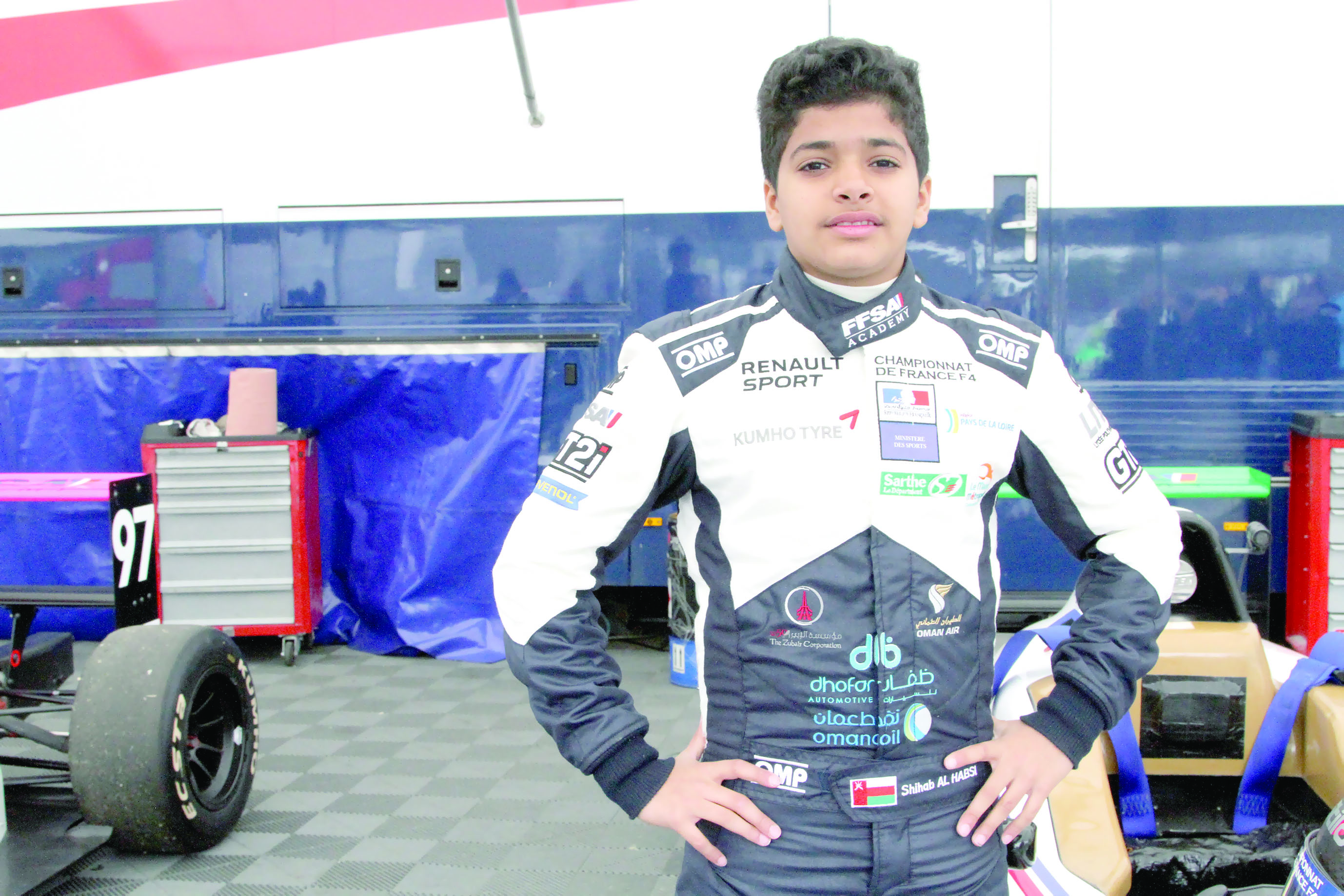 في الجولة الثانية من الفورمولا 4الأمطار والحوادث تعرقل بطلنا الحبسي