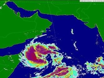 تحديث للحالة المدارية في بحر العرب
