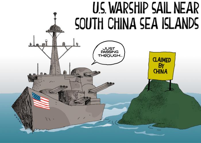 US warship sail near South China Sea islands