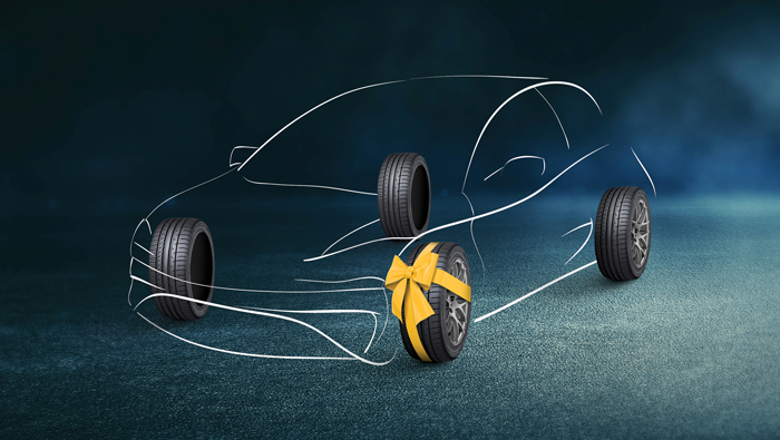 'Buy 3 Get 1 Free' promotion on Dunlop Tyres