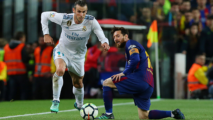 Football: Real's Bale denies 10-man Barca win in feisty Clasico