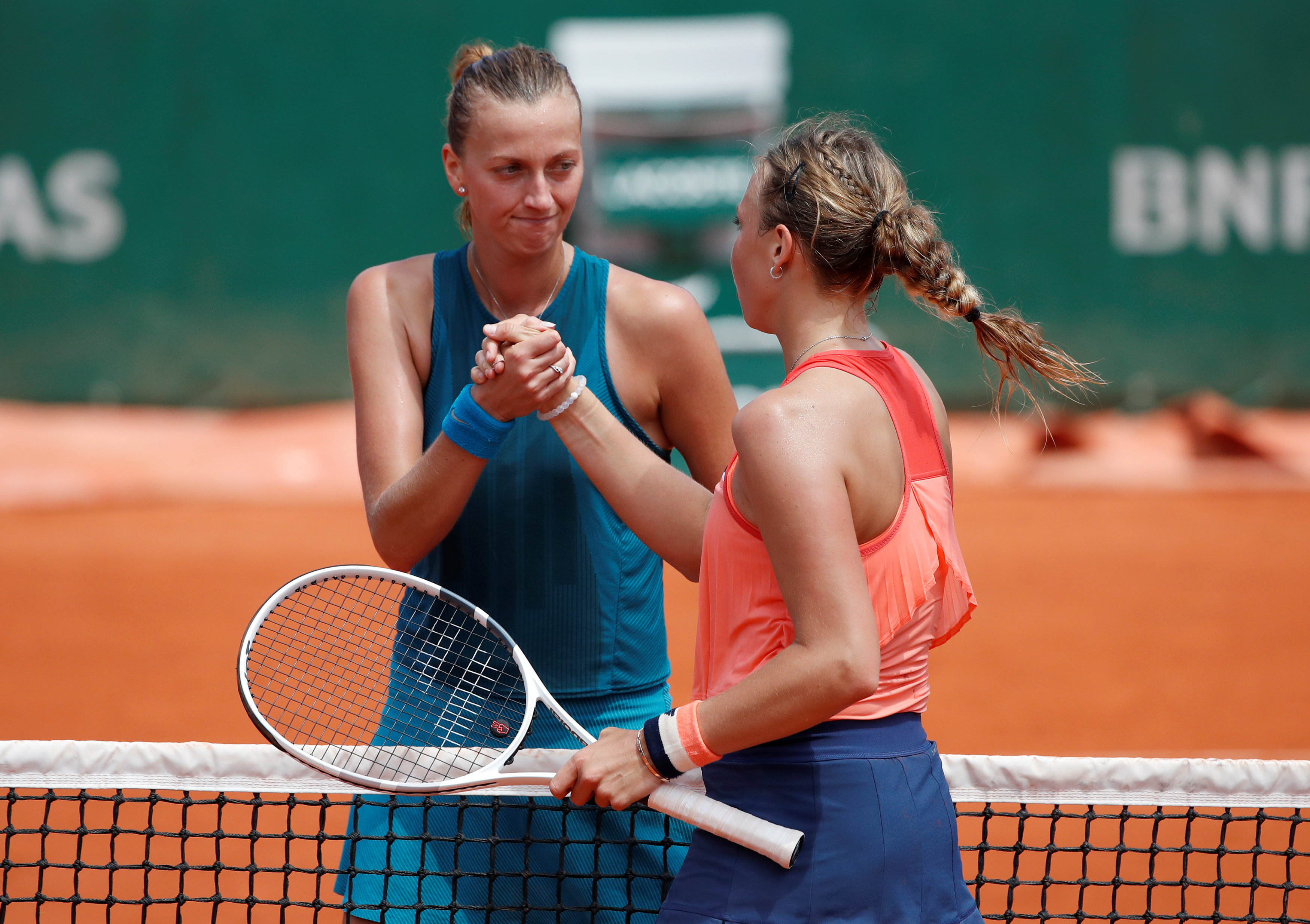 French Open: Kontaveit knocks out Kvitova