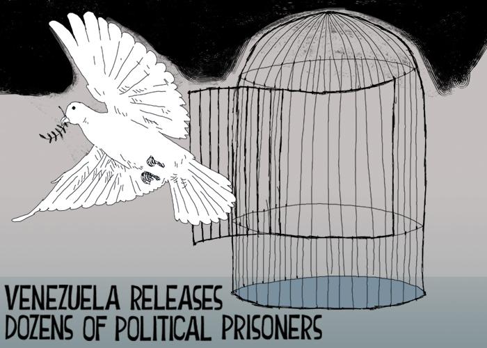 Venezuela releases dozens of political prisoners