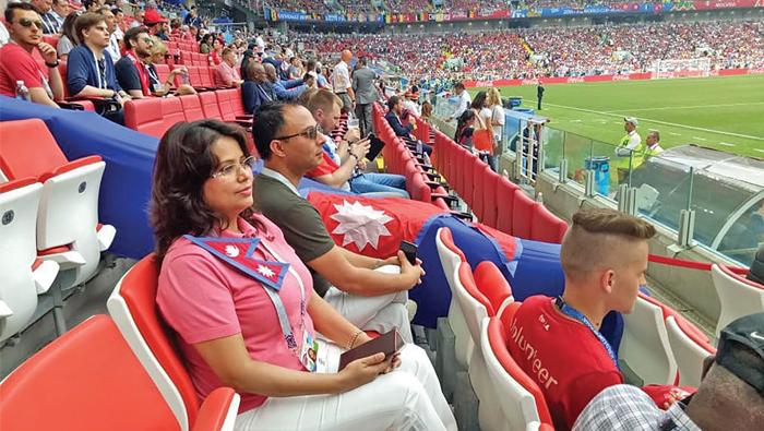 Nepali envoy joins Omanis, expats in Russia for World Cup