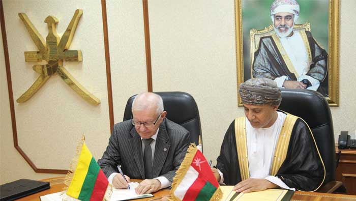 Oman, Lithuania sign economic cooperation agreement