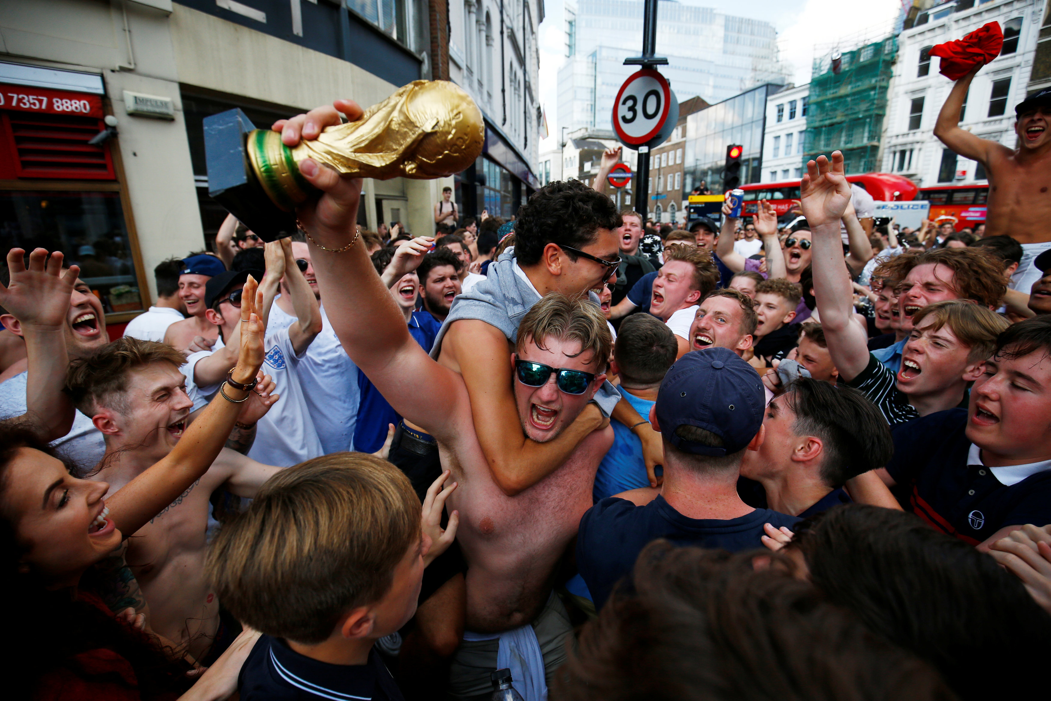 Football: England fans make late dash to Russia for World Cup semi-final