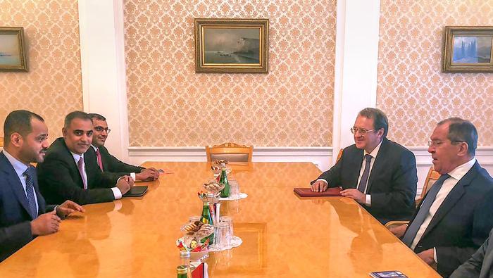 Busaidi, Lavrov meet for Oman-Russia political consultations