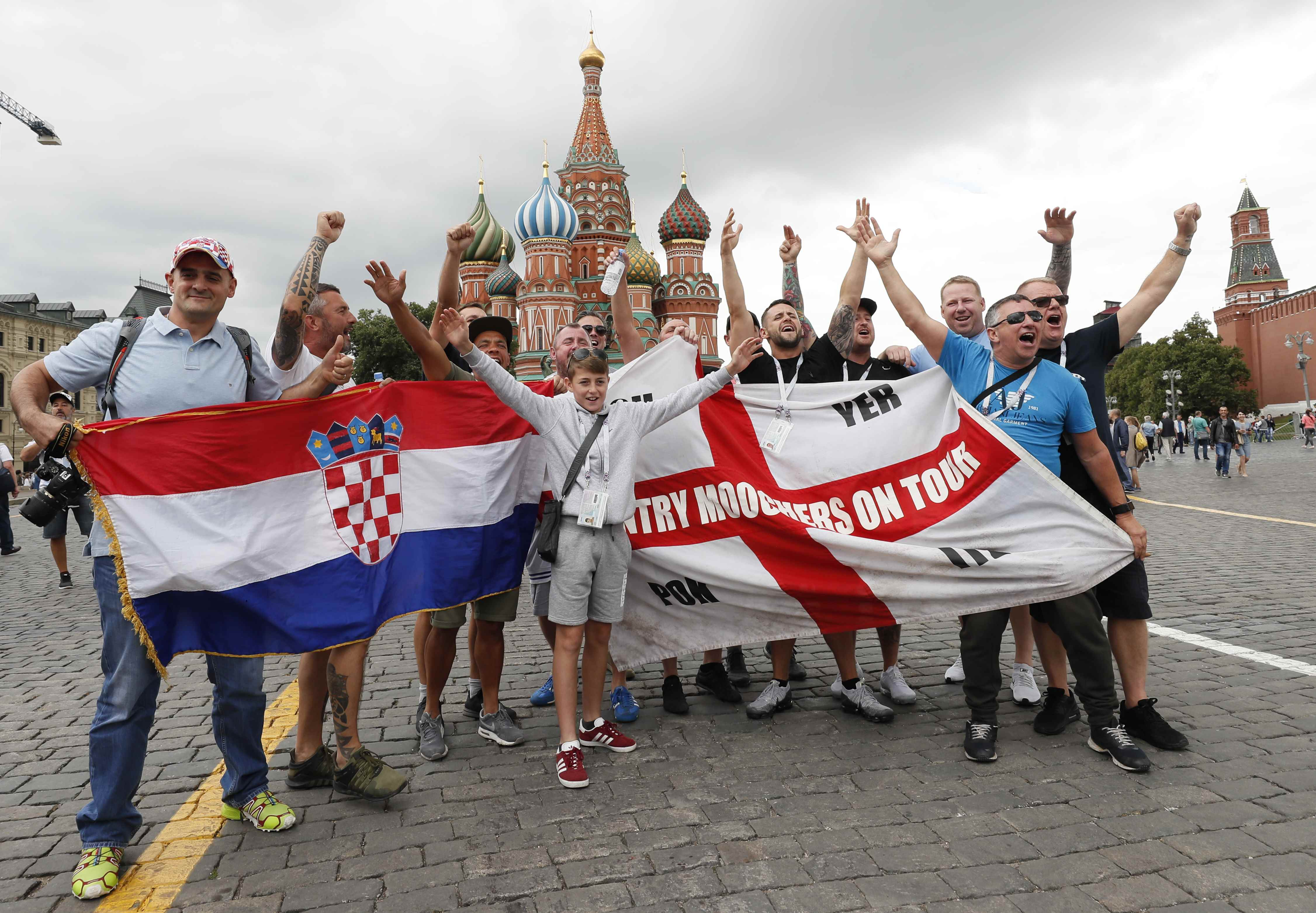 Football: Croatia fans scramble to Moscow for historic World Cup semi