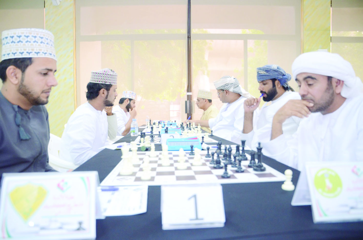 عشرة انتصارات في انطلاق بطولة الأندية الأولى للشطرنج الكلاسيك للمصنفين