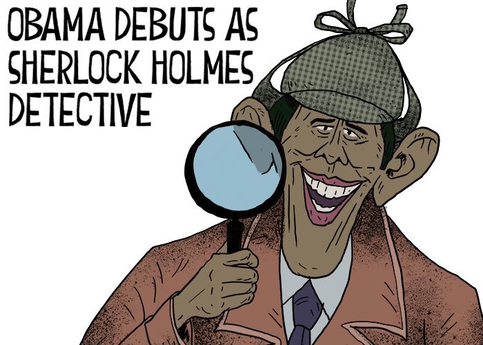 Obama debuts as Sherlock Holmes