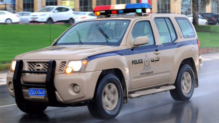 Multiple-vehicle collision brings traffic to a complete stop on this road in Oman