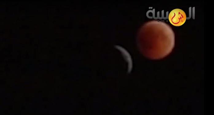 شاهد بالفيديو.. الشبيبة ترصد مراحل الخسوف الكلي للقمر