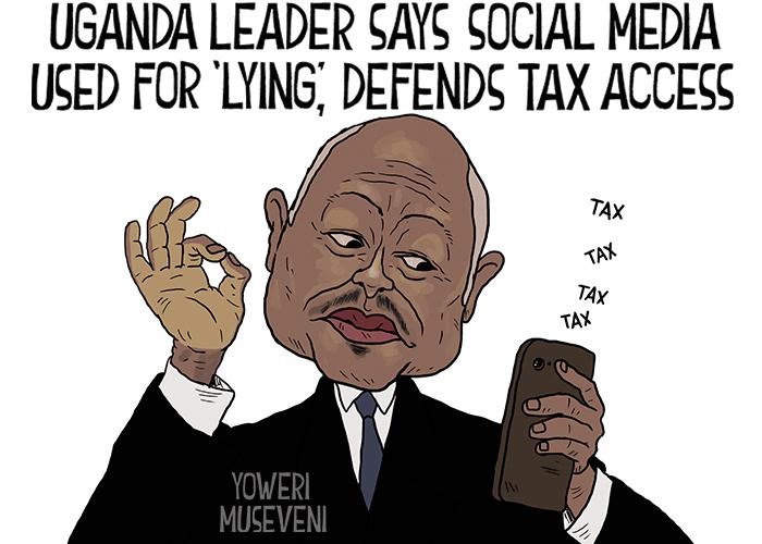 Uganda leader says social media used for lying