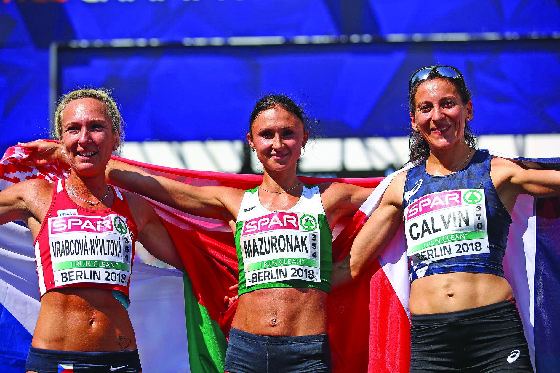 Athletics: Mazuronak overcomes nosebleed to win European marathon